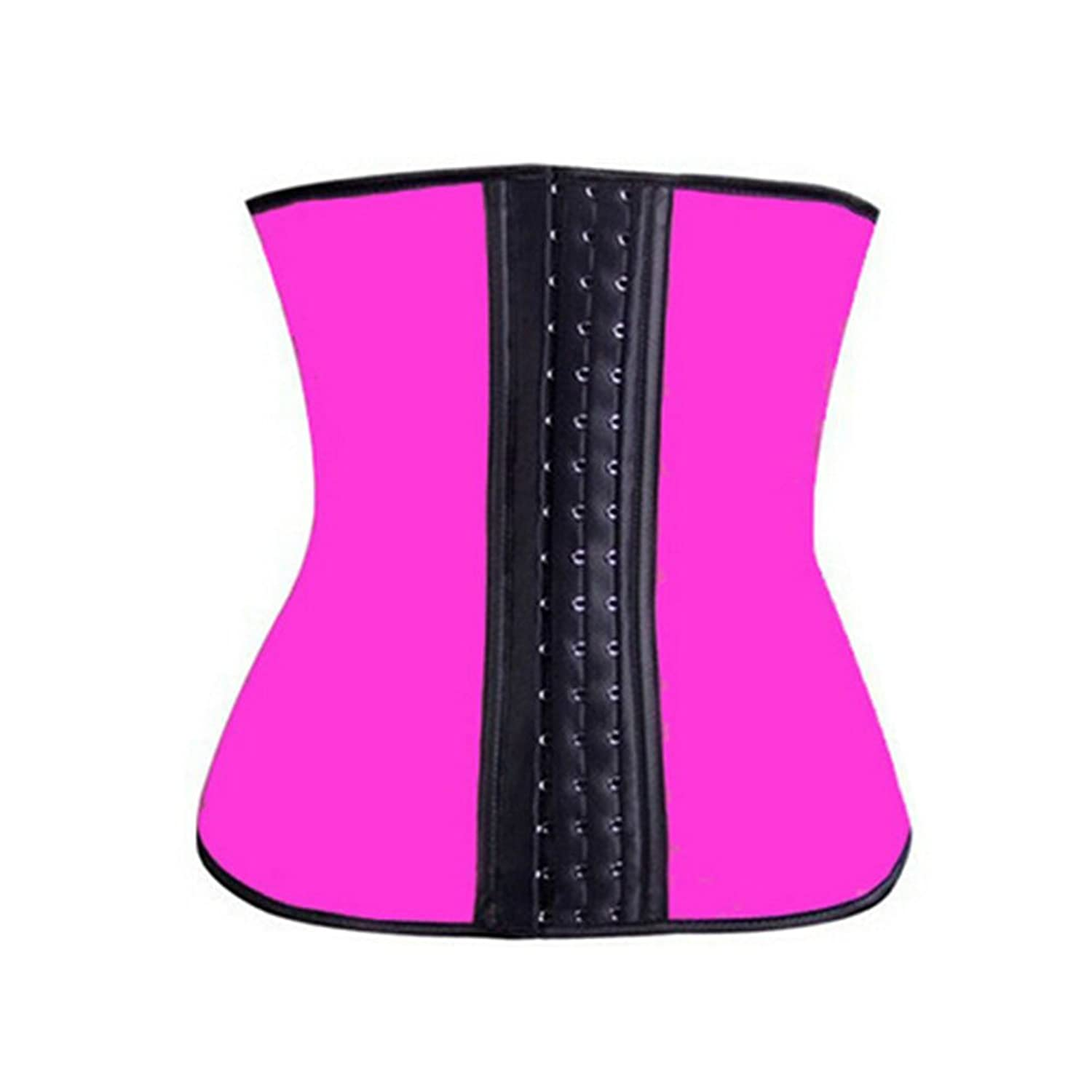 Teenloveme Women's Training Elastic Waist Trainer Cincher Shapewear Lace Corset Underbust Belt,UK6-24 (XL, 1502Rose Red)