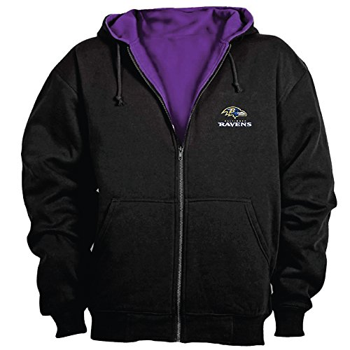 Dunbrooke NFL Craftsman Full Zip Thermal Hoodie, Baltimore