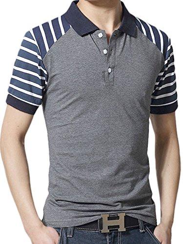 [シャルフィール] ポロシャツ 半袖 ボーダー ゴルフ ウェア スポーツ カジュアル メンズ