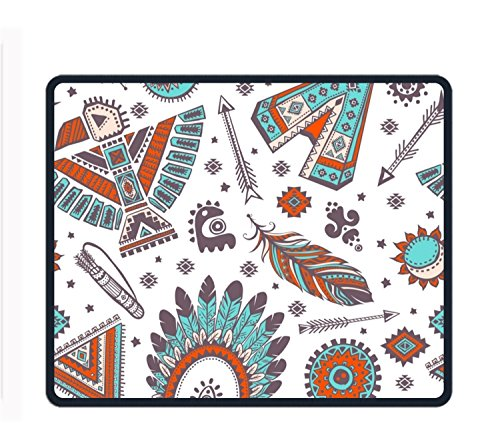 (Tribe Pattern Mouse Pad/Mat Stitched Edges Non-Slip Rubber Mousepad 11.89.850.12)