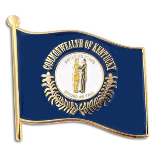 """PinMart Kentucky US State Flag KY Enamel Lapel Pin 1"""""""