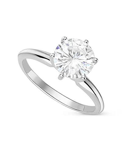 Forever One Round 7 5mm Moissanite Engagement Ring-size 7