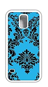 Design Phone Protective Cover cell phone cases for galaxy s5 - Taffeta Flocking Turquoise Black