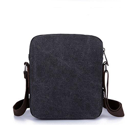 Santwo lienzo ocio deporte cuerpo cruz bolsas para hombres, negro (gris) - BB0024 negro
