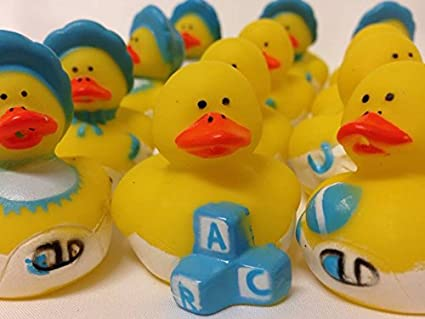 Amazon Com 12 Ducks Rubber Ducky Baby Shower Party Favors