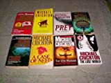Michael Crichton - (Set of 8) - Not a Boxed Set (The Lost World-Jurassic Park-State of Fear-Airframe-Rising Sun-Congo-Sphere-Next)