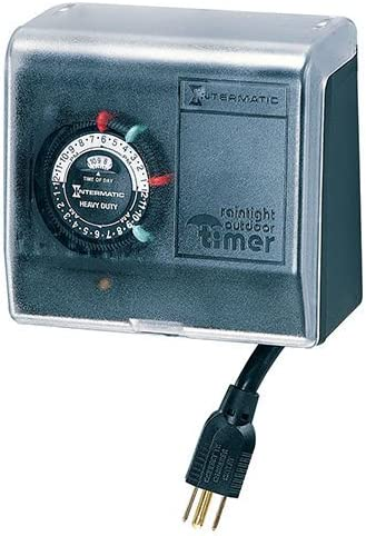 Indoor//Outdoor Pool Filter Timer w//Cord and Plug 120 Volt