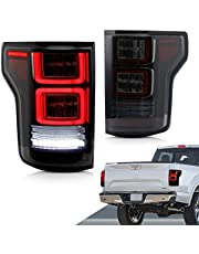 Led Tail Lights Assembly Fits for Ford F-150/Raptor 2015 2016 2017 2018 2019 2020.with Sequential Turnning Signal,Plug-and-Play,Driver and Passenger Side,Black
