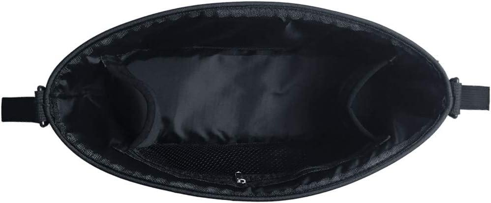 bolsa organizadora impermeable para cochecito con soporte para taza y compartimento grande color negro A-Blue Talla:L Bolsa organizadora para cochecito de beb/é