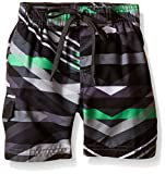 Image of Kanu Surf Little Boys' Toddler Energy Swim Trunk, Charcoal, 4T