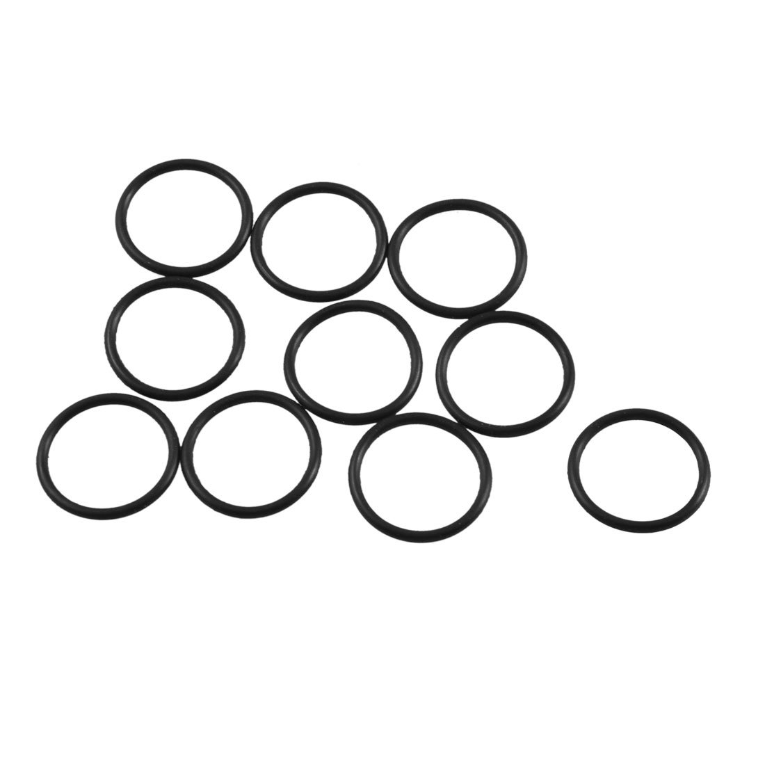10 Pcs Black Rubber Oil Filter Seal O Ring Gaskets 17mm x 14mm x 1.5mm sourcingmap a12100800ux1030