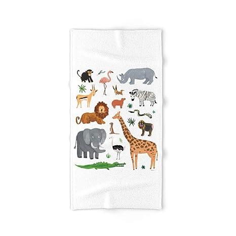 Society6 Safari Animales Mano y toalla de baño
