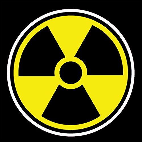 KEEN Radioactive Nuclear Radiation Vinyl Decal Sticker|Cars Trucks Vans Walls Laptops Cups|Full Color|5.5 in|KCD766