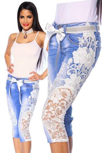 Tubo Jeans con punta y extraíble Pernera Straps Jeans a13480–�? schwarz (Sw 16)