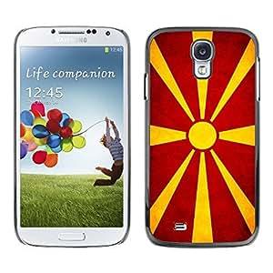 Shell-Star ( National Flag Series-Macedonian ) Snap On Hard Protective Case For Samsung Galaxy S4 IV (I9500 / I9505 / I9505G) / SGH-i337