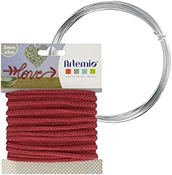 Pink cord knitting artemio 5 mm x 5 meters