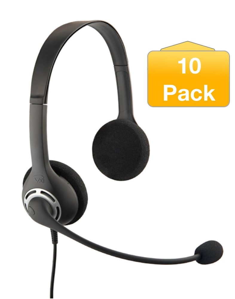 VXi BlueParrott USB Envoy Office Headset 2031U | 10 Pack Bundle | Compatible with UC, Softphones, Skype for Business - Microsoft Lync, Dragon Dictation, 203706-B10 by BlueParrott