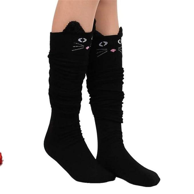 Dibujos animados de gato Calcetines de algodón Calcetines Antideslizantes Calcetines de Deporte Calcetines Térmicos para Adult Unisex Calcetines (azul ...