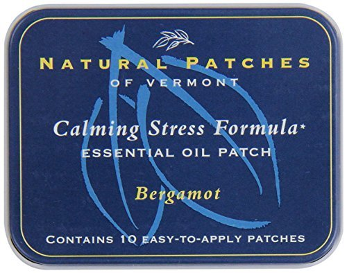 Naturopatch Of Vermont Bergamot All Natural Stress Relief Aromatherapy Essential Oil Body Patches, 10-Count Tin by Naturopatch Of Vermont ()