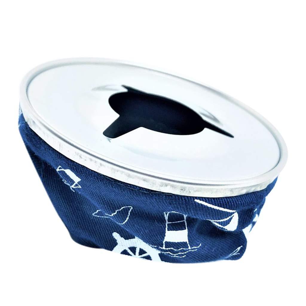 B Baosity Voiture Cendrier Etanche Sac Coupe-Vent pour Bateau en Acier Inoxydable 304 D/écoration Rouge//Bleu