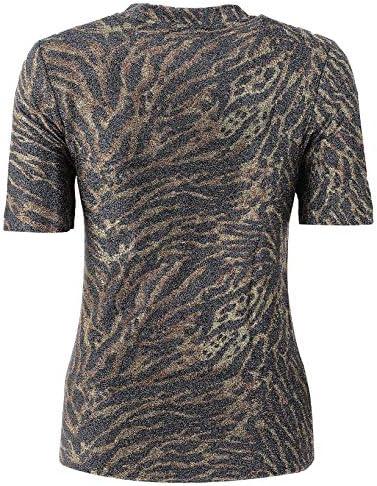 GANNI Luxury Fashion Donna T2380TIGER986 Marrone Elastan T-Shirt | Autunno-Inverno 19