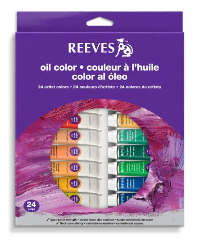 Reeves 24-Tubes Oil Color Tube Set, 10ml (8594302)