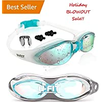 U-FIT Swimming Goggles - Swim Goggles For Men, Women,...