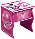 Delta Children Side Table with Storage, Disney Minnie Mouse