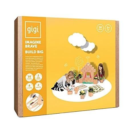 Gigi Bloks Bloques de Construcción Gigantes de Cartón | Set de Regalo Puzzle de Casa y