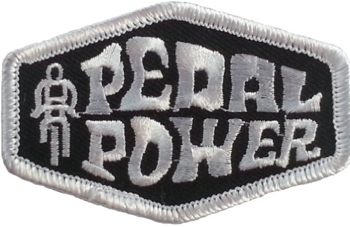 """Pedal Power Embroidered Patch 7CM x 4.4CM (2 3/4"""" X 1-3/4"""")"""