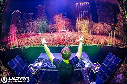 Da Bang Hardwell Ultra Music Festival Robbert van de Corput DJ music Miami concert Poster 17x13 inch (Best Ultra Music Festival)