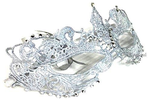 Dakota Johnson's Fifty Shades Darker Mask - Anastasia Steele Silver Masquerade for her (Silver Crystals)