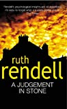 Front cover for the book A Judgement in Stone by Ruth Rendell