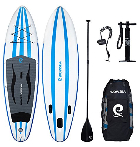 WOWSEA Inflatable 10' Stand Up Paddle Board AN14 iSUP Package Includes Adjustable Paddle Travel Backpack Coil Leash for Youth and Adult