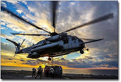 (Marine Corps CH-53E Super Stallion Helicopter 8x12 Silver Halide Photo Print)