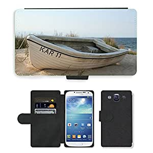 Super Stella Cell Phone Card Slot PU Leather Wallet Case // M00421265 Baltic Sea Sea Boot Beach Sunset // Samsung Galaxy S3 S III SIII i9300