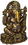 Ganesh Statue - 11 inches Brass Statue of Hindu God Ganesha or Lord Ganpati Bappa for your home by Lotus Sculpture Imported from India