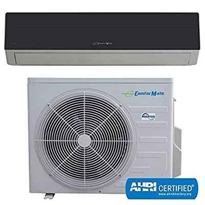 Comformatic 12,000 Btu Inverter 15 Seer Ductless Mini Split Air Conditioner Cooling Only Includes Easy Installation Kit, with 16 Foot Length Line Set and Various Other Accessories