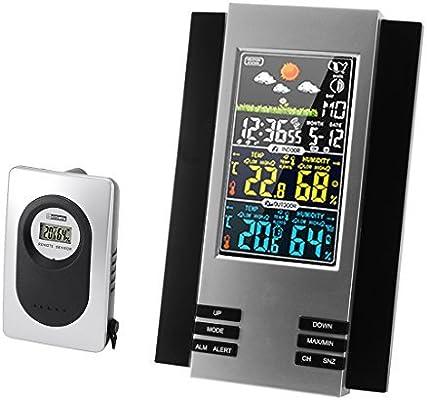 eDealMax H126G 433MHz multifunción colorido Digital del LCD de la estación meteorológica inalámbrica