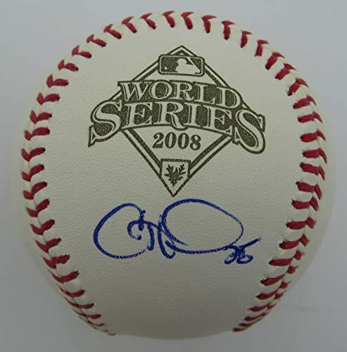 Cole Hamels Phillies Signed Rawlings 2008 World Series Baseball JSA 144393