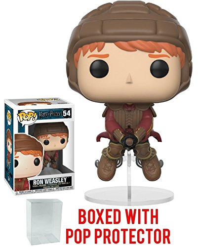 Funko Pop Movies: Harry Potter - Ron Weasley on Broom Vinyl Figure (Bundled with Pop Box Protector Case) Ron Weasley Yule Ball