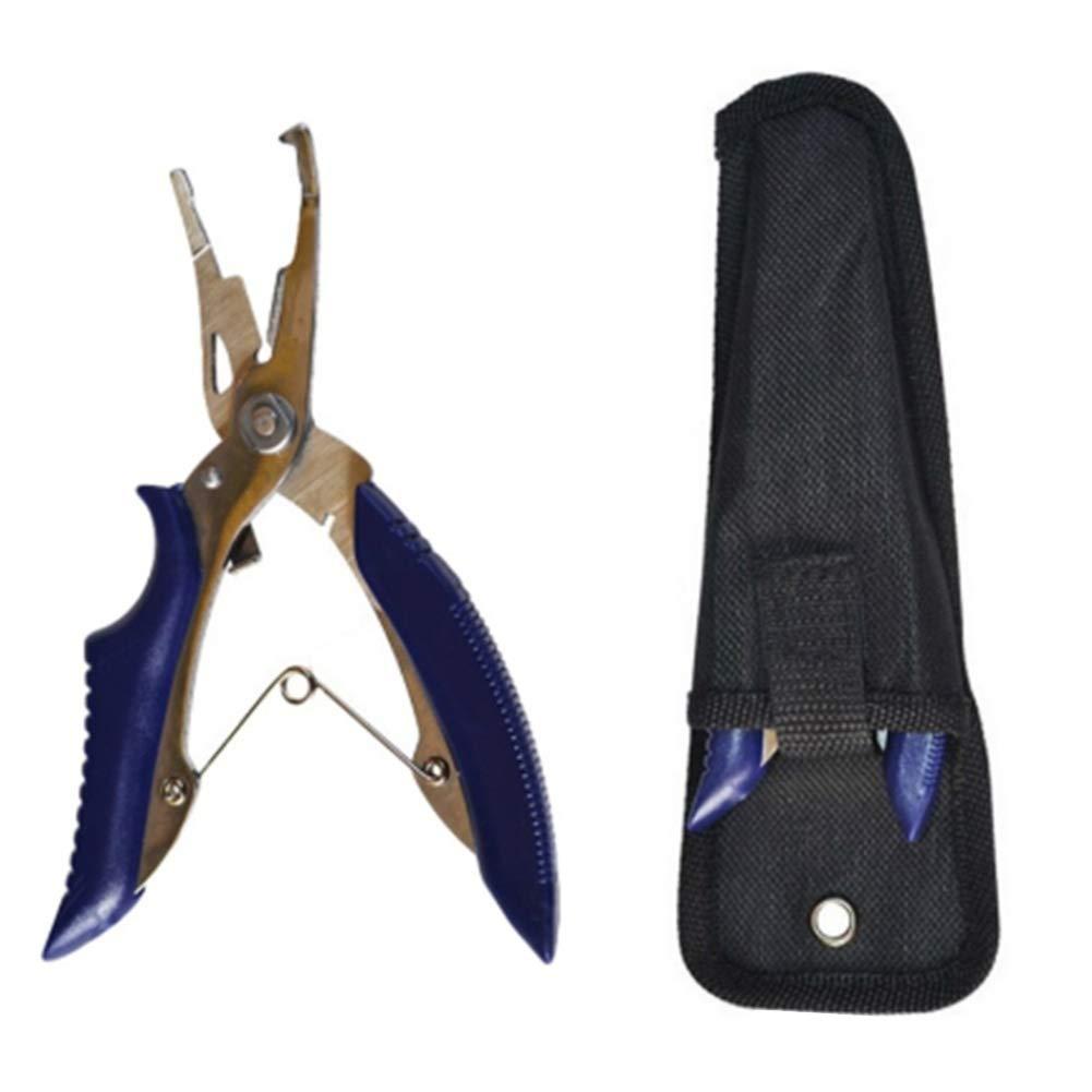 BONNIO Alicates de Pesca l/ínea cortadores removedor de Gancho Tackle Herramienta multifunci/ón de Acero Inoxidable f/órceps