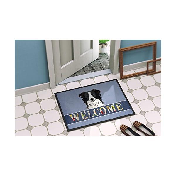 Caroline's Treasures BB1427MAT Border Collie Welcome Indoor or Outdoor Mat 18x27, 18H X 27W, Multicolor 2