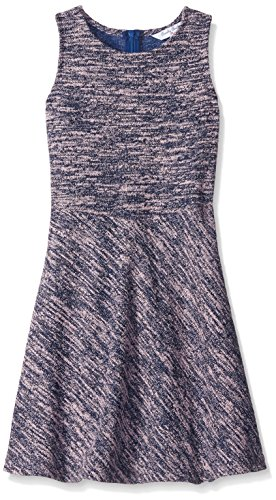 Price comparison product image Brooks Brothers Big Girls' Tweed Sleeveless Dress, Pink, Large