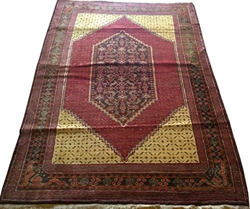 Vintage Handwoven Area Rug Carpet 7.04 x 4.62 ft.