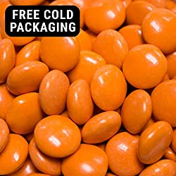 Orange Candy Regular Size Milk Chocolate Minis 2lb (Free Cold Packaging)