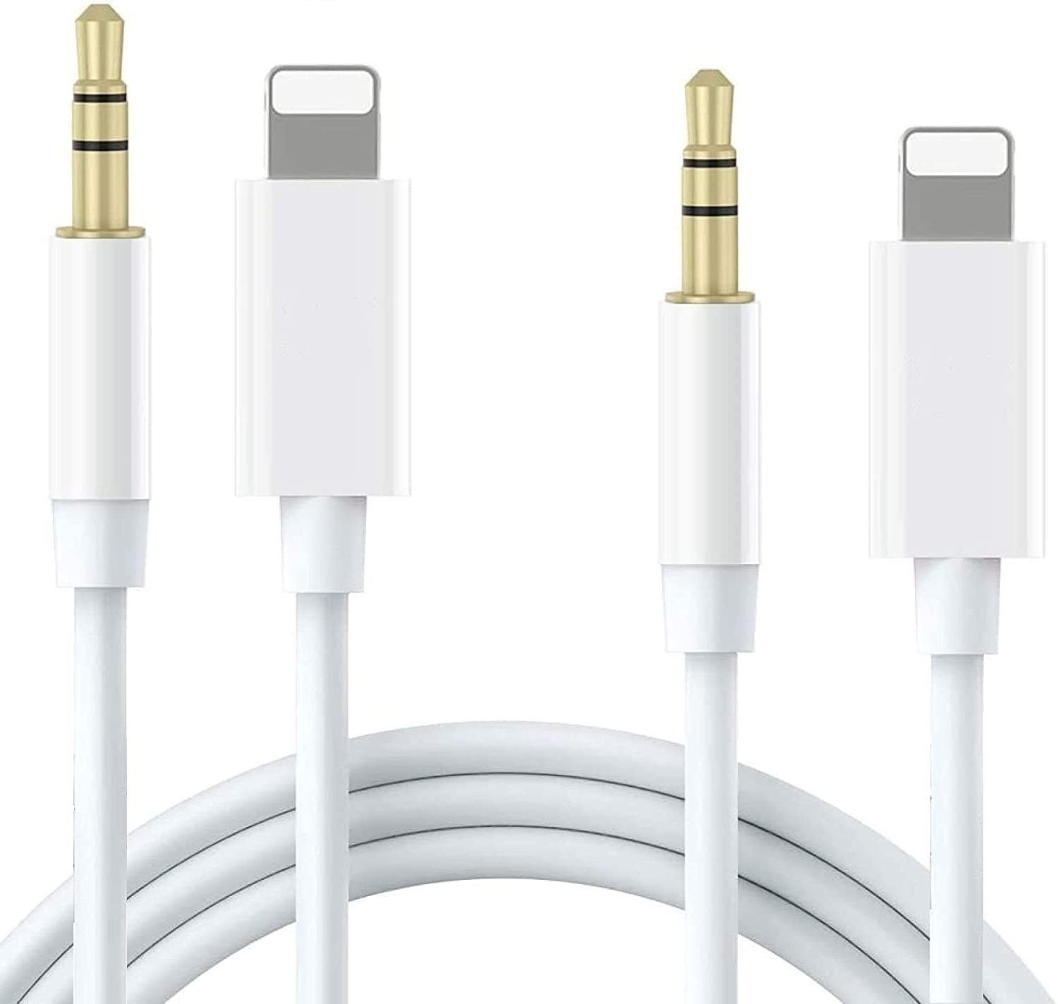 [Apple MFi Certified] AUX Cord for iPhone in Car, 2 PACK esbeecables lightning to 3.5 mm Headphone Jack Adapter for Car Stereo/Speaker/Headphone Audio cable, Compatible with iPhone 12/11/XS/XR/X/8/7