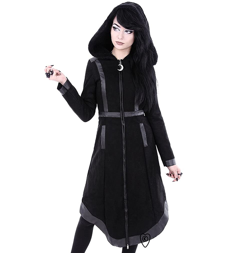 MOON WITCH COAT  Gothic, Occult Symbols Winter Coat