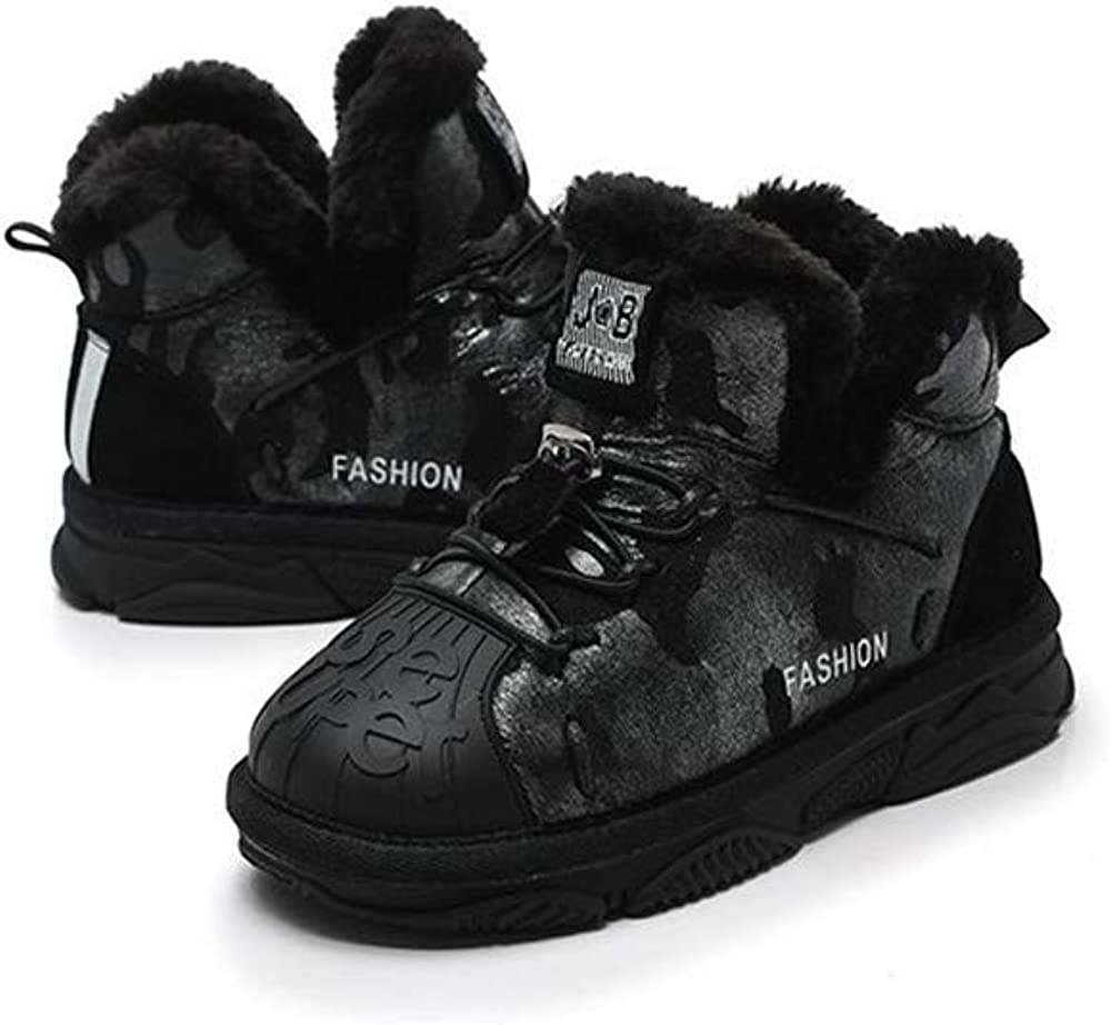 Rose town Toddler Snow Boots for Boy Girl Winter Outdoor Sneakers Fur Lined Kids