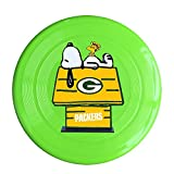 YQUE56 Unisex Green Bay Footabll Team Logo Sleep Outdoor Game, Sport, Flying Discs,Game Room, Light Up Flying, Sport Disc ,Flyer Frisbee,Ultra Star KellyGreen One Size